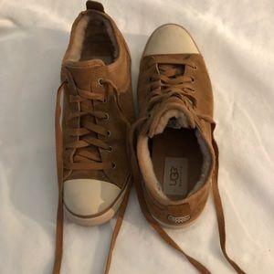 Chestnut Ugg shoes.